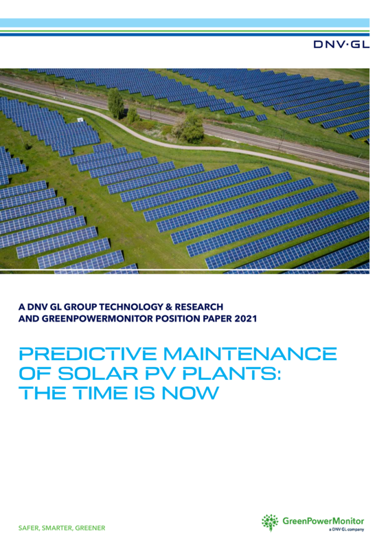 Predictive maintenance of solar PV plants