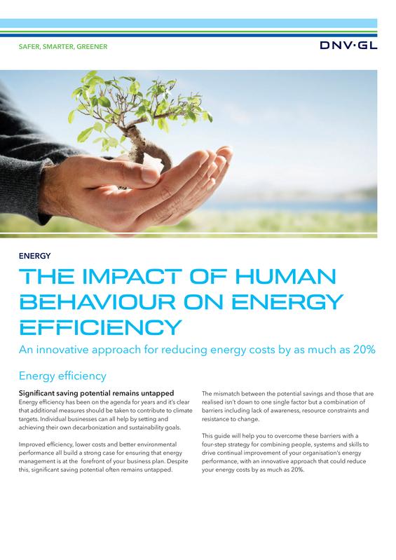 The impact of human behaviour on energy efficiency