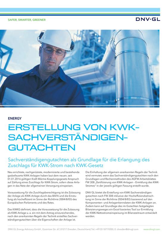 Erstellung von KWK-Sachverständigen-Gutachten