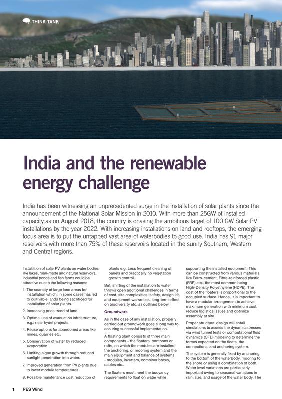 India and the renewable energy challenge