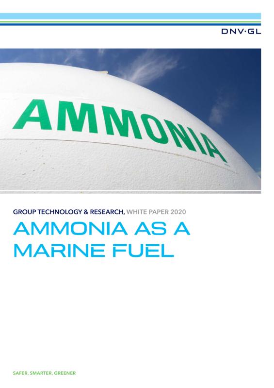 Ammonia as a marine fuel