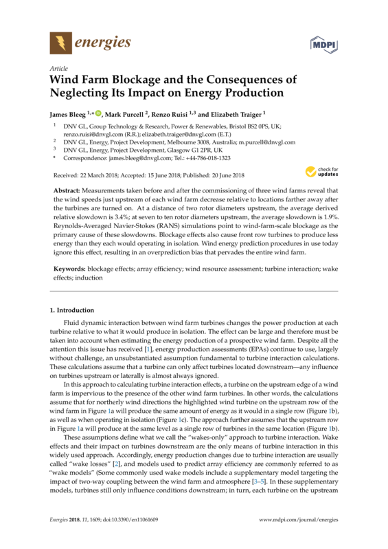 Wind farm blockage and the consequences of neglecting its impact on energy production