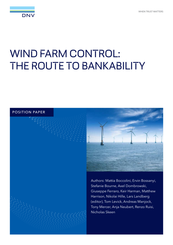 Wind farm control: The route to bankability