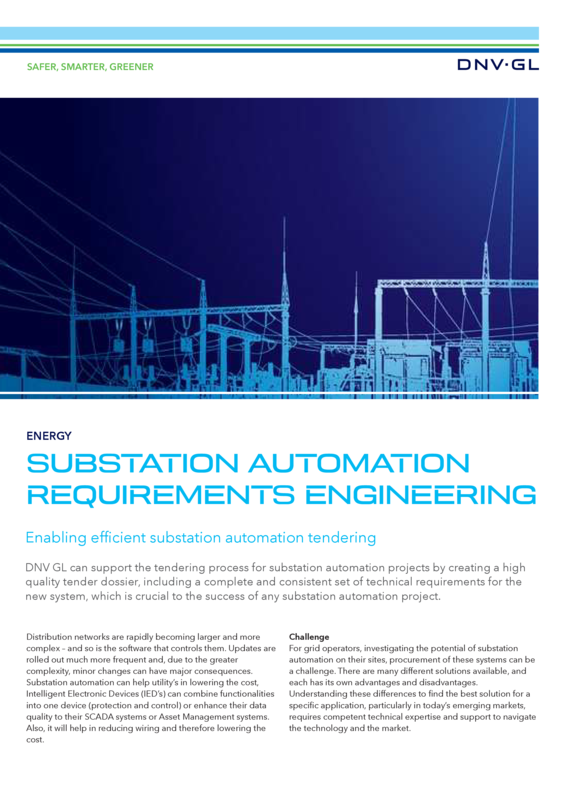 Substation automation requirements engineering