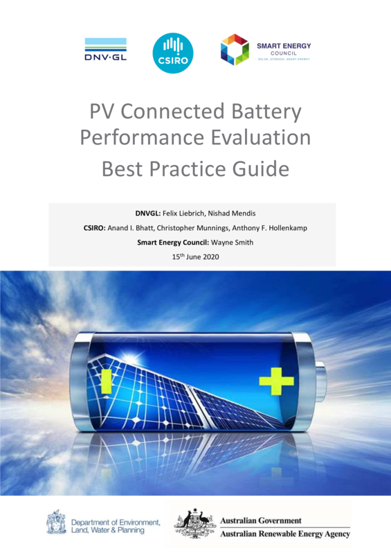 ABPS PV connected battery performance evaluation  best practice guide
