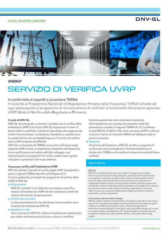 Servizio di Verifica UVRP