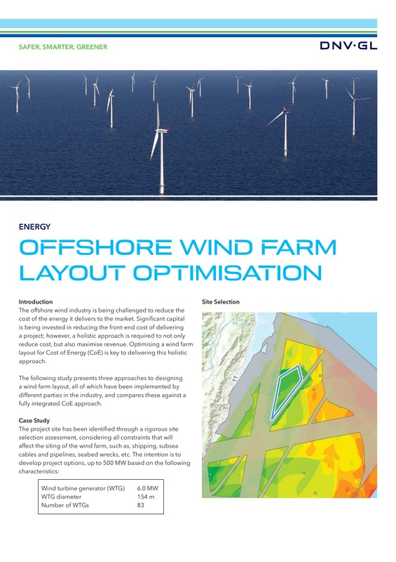 Offshore wind farm layout optimisation