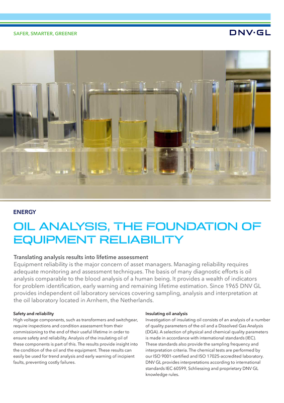 Oil analysis, the foundation of equipment reliability