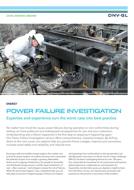 Power Failure Investigation