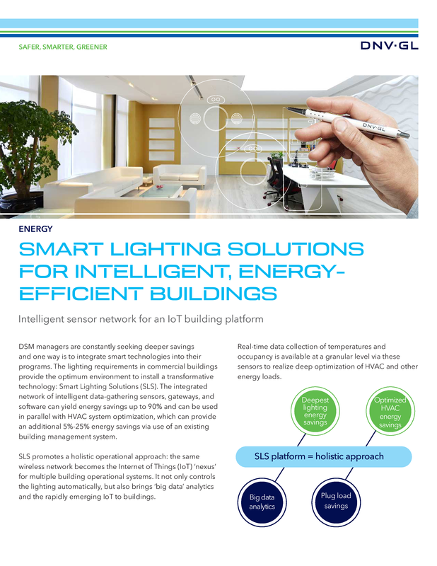 Smart lighting  solutions for intelligent, energy-efficient buildings