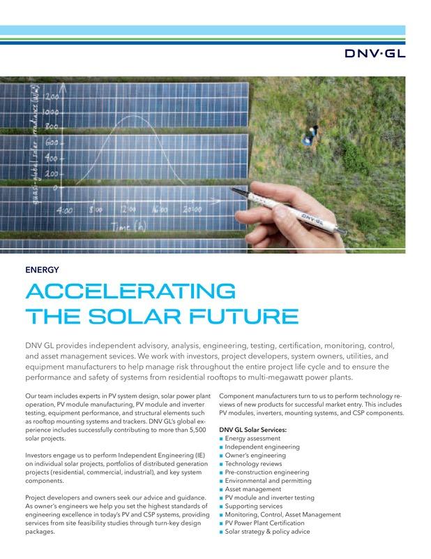 Accelerating the solar future