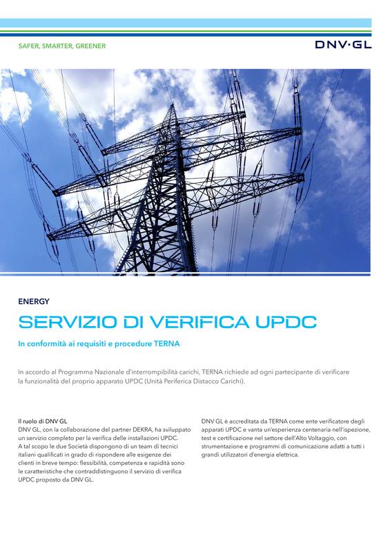 Servizio di verifica UPDC
